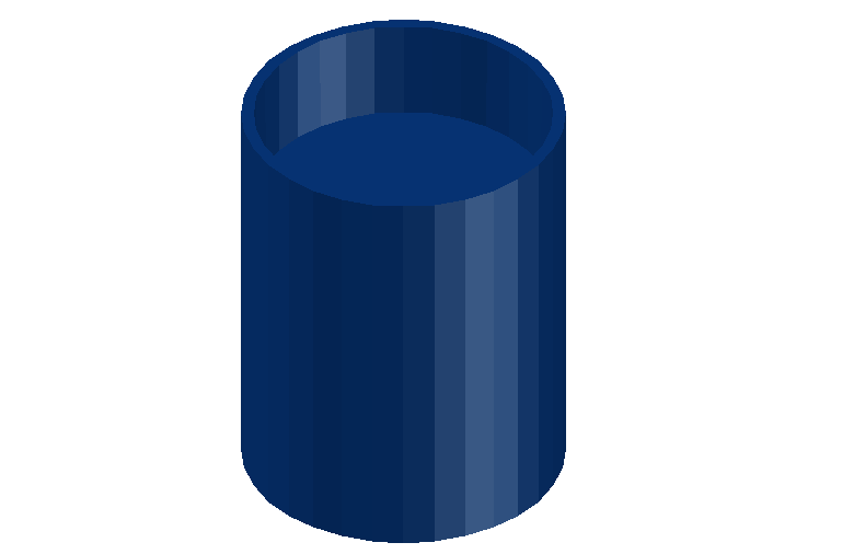 Ceiling 3d view in cylindrical shape of D 63 size dwg file