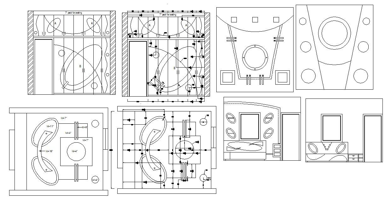 Master Bedroom Ceiling Design In Dwg File
