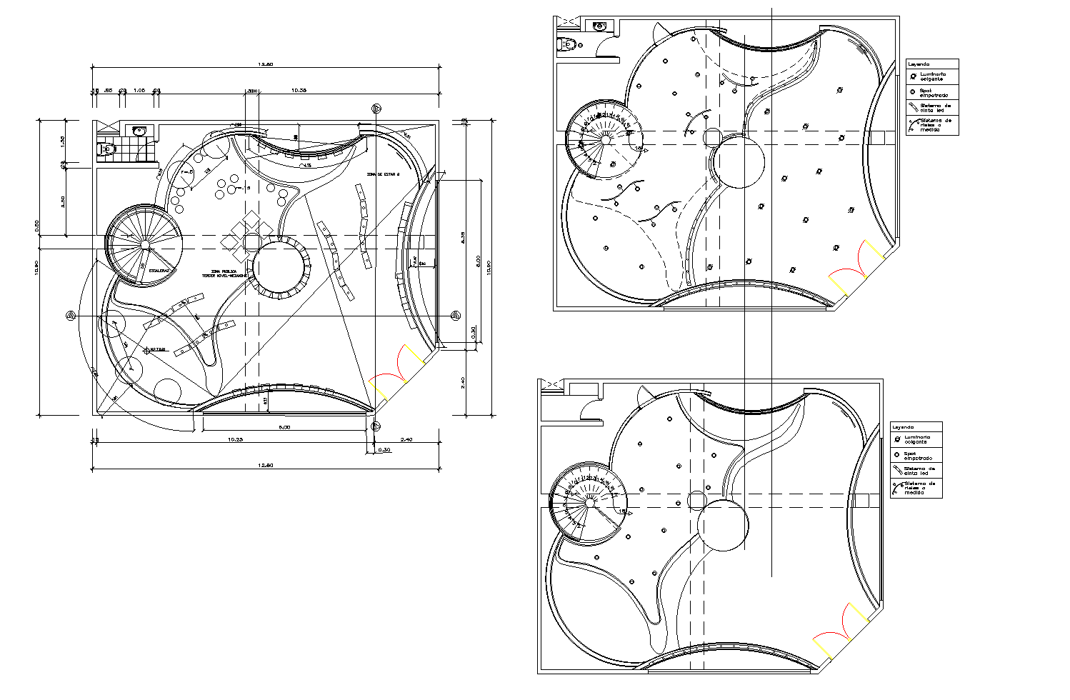 Ceiling layout of busterminal plan detail dwg file.