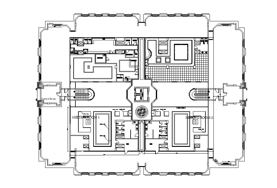 Ceiling plan of a residential house in dwg file