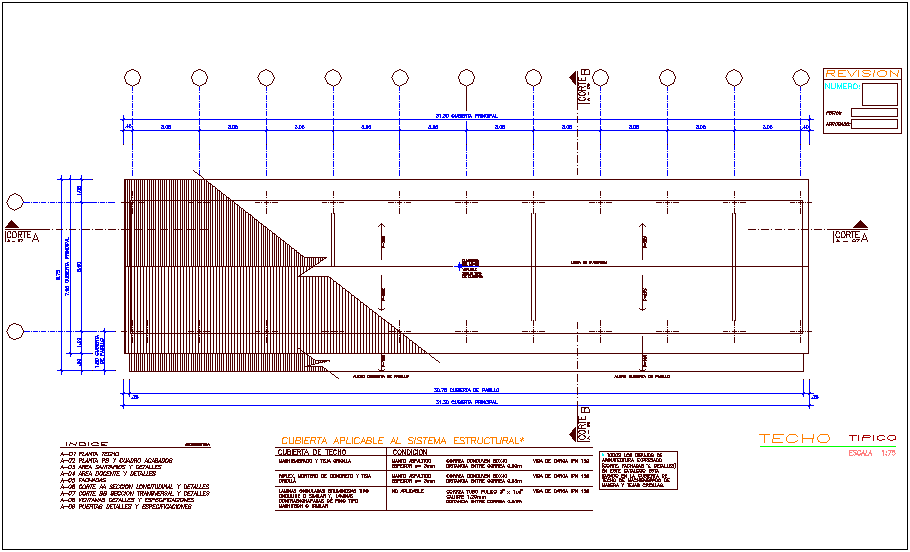 Ceiling plan of education center dwg file