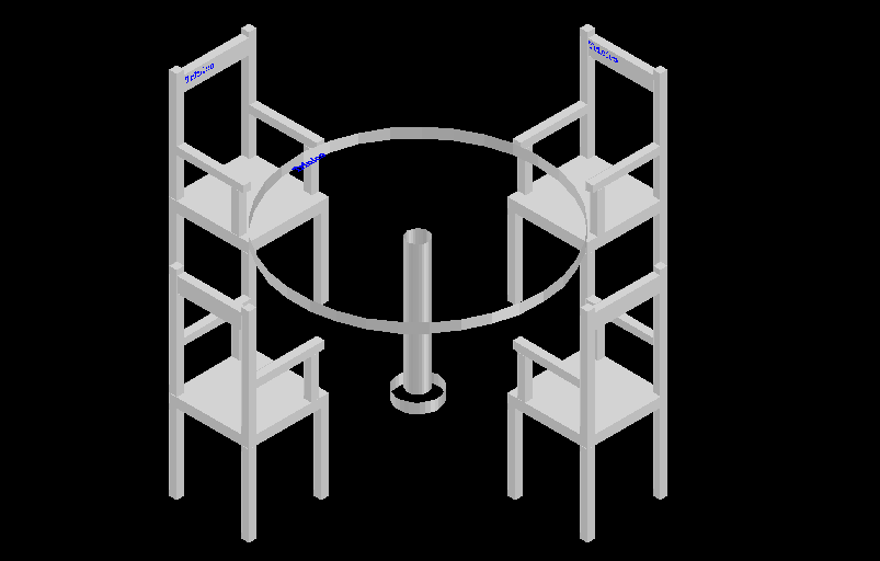 Center table and chair