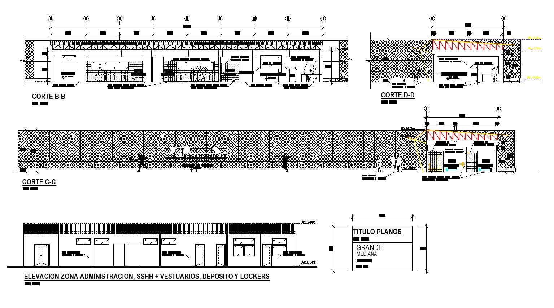 Center tennis plan detail dwg detail.,