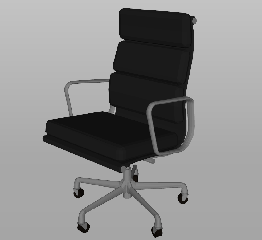 Chair 3d view skp file