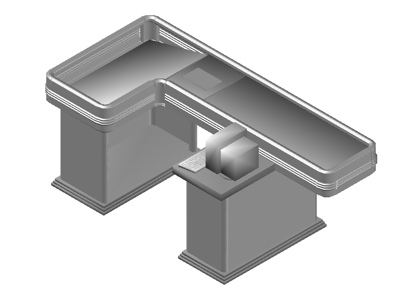 Check out counter desk dwg file