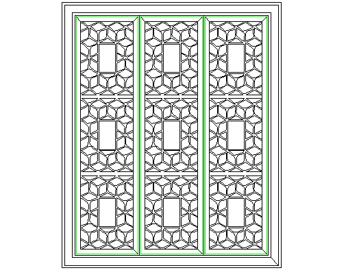 Chinese style window detail