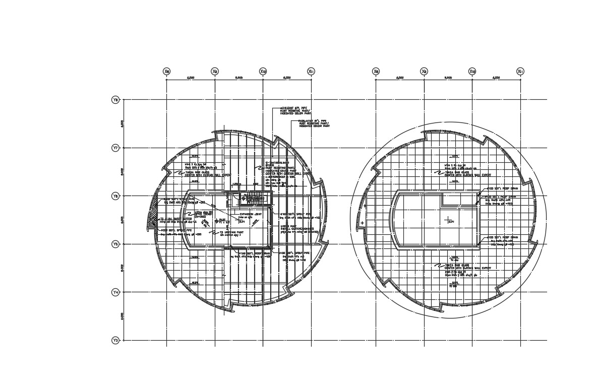 Circle Building Roof Plan