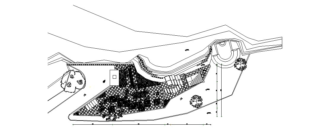 City central park landscaping structure cad drawing details dwg file