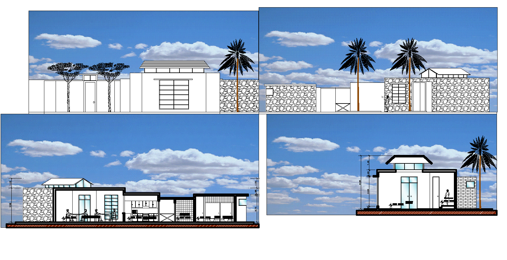 City offices and cultural plan elevation detail dwg file.