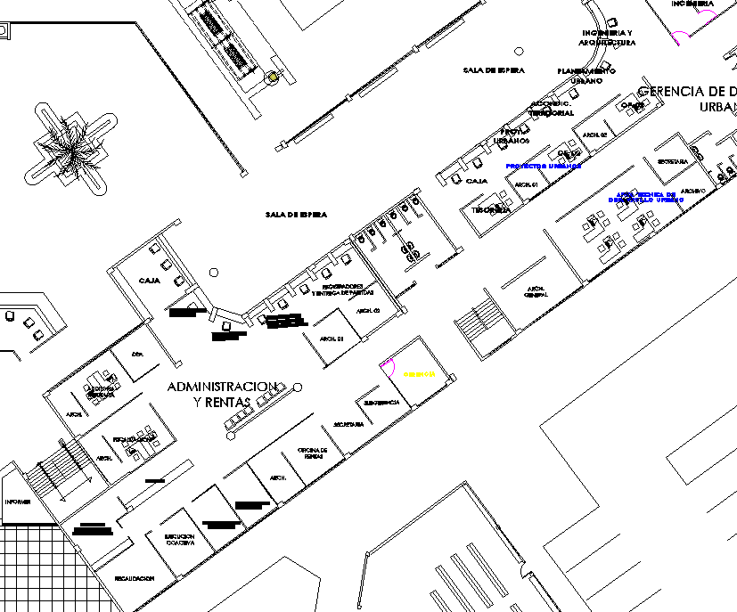 City plan detail dwg file