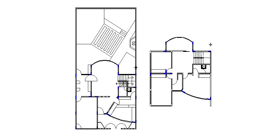 Club house floors framing plan structure details dwg file