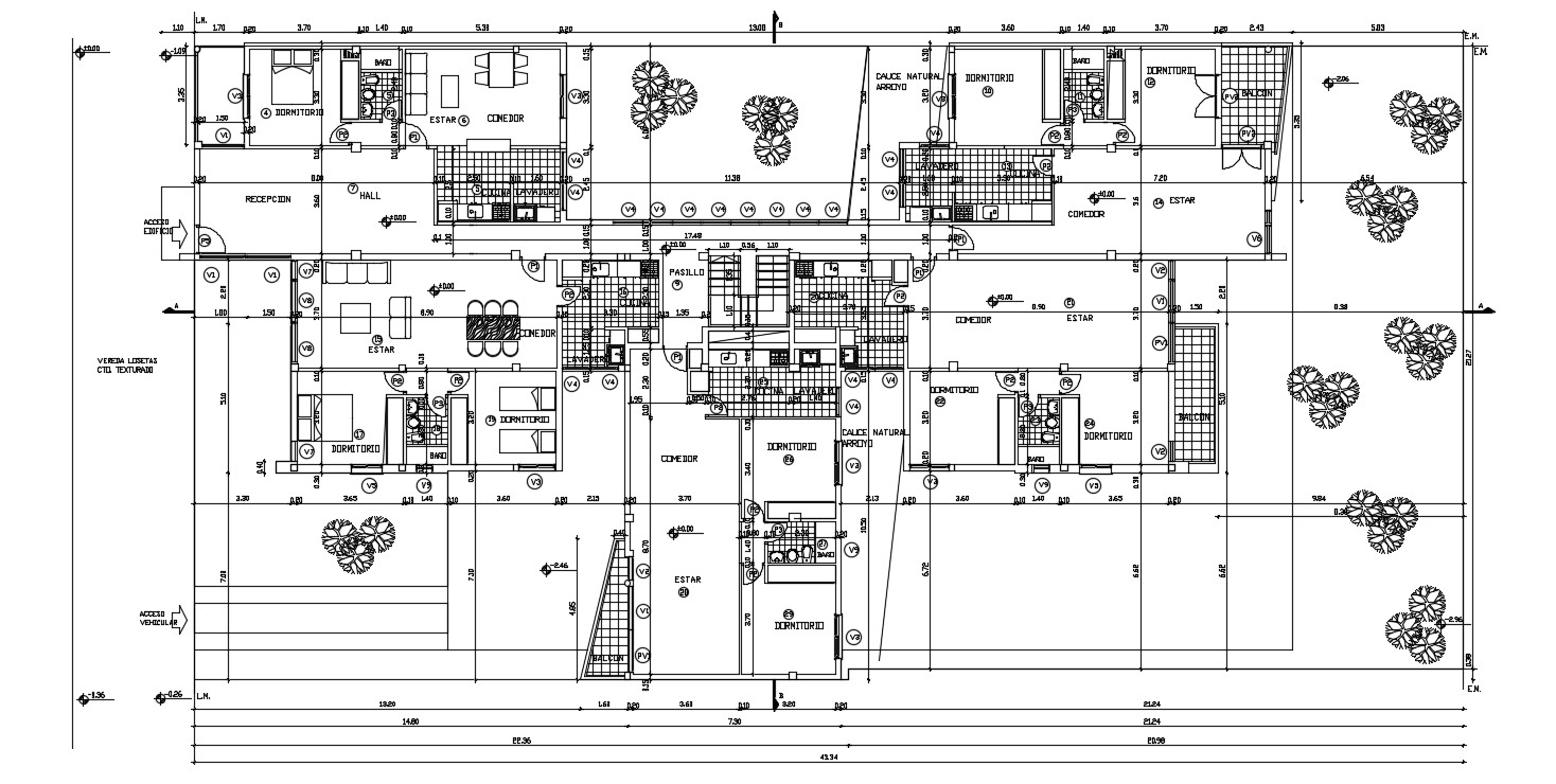 Cluster Home Plan Design 2d AutoCAD Drawing