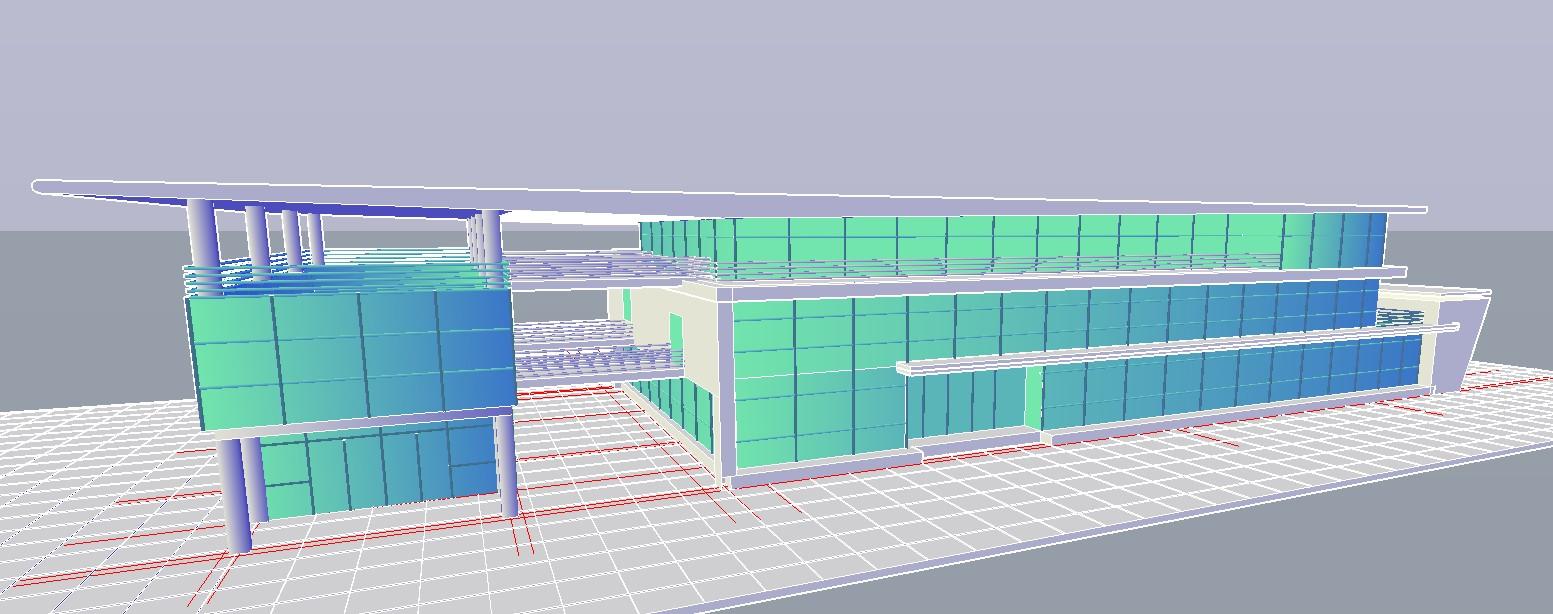 Co-operative Building Design 3d model CAD file