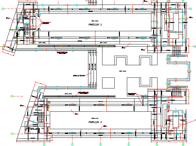 College Architecture Design And Structure Plan dwg file