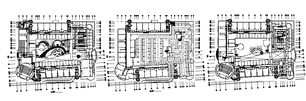 College building plan with detail dimension in dwg file