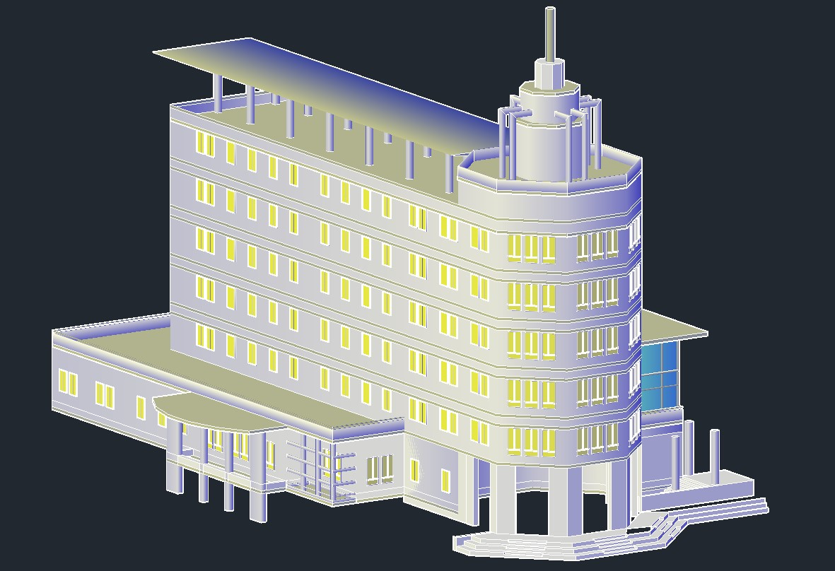 Commerce Building 3d model AutoCAD File