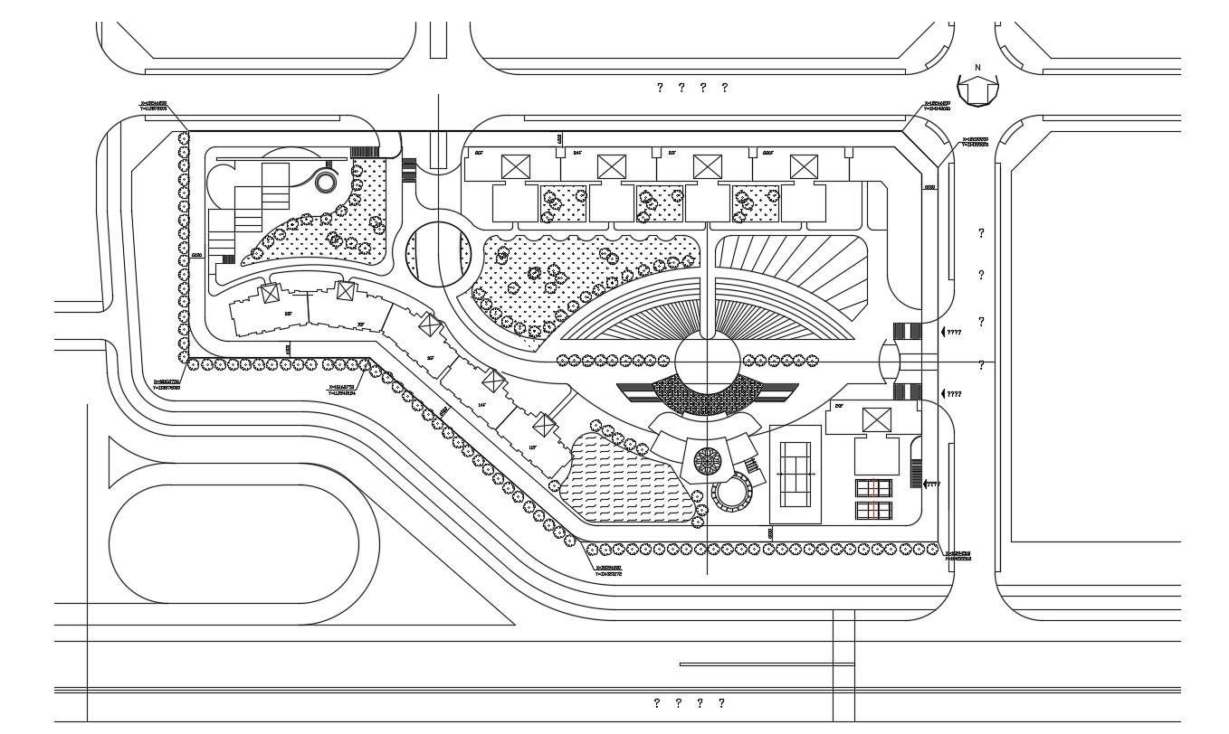 Commercial Area Master Layout Plan