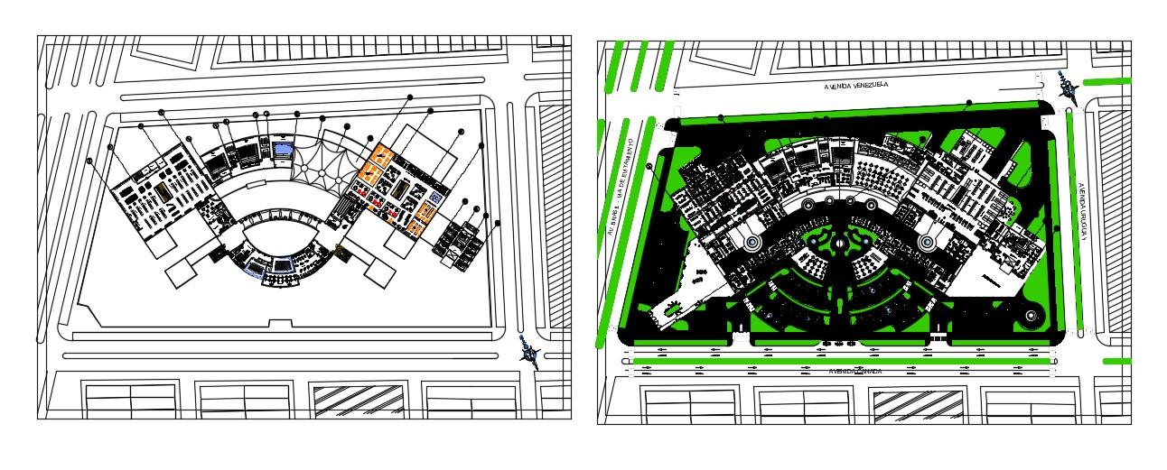 Commercial Building Design CAD File