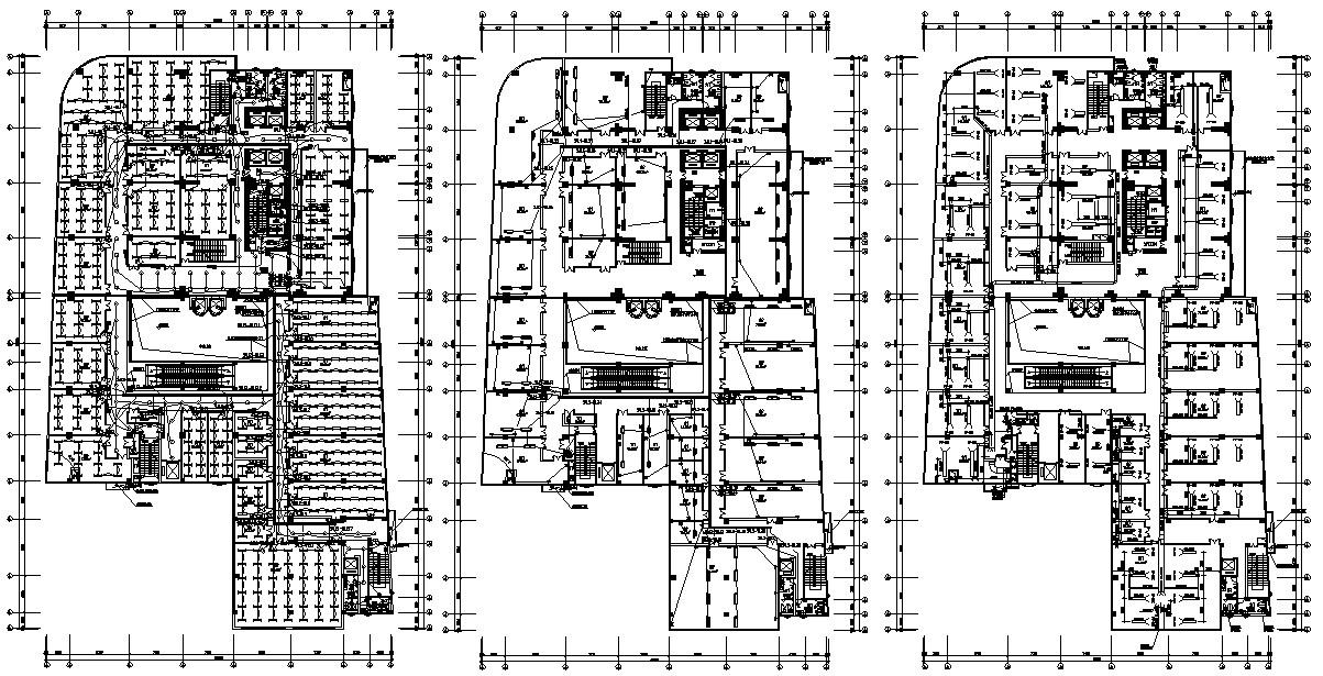 Commercial Building Design Plans AutoCAD File