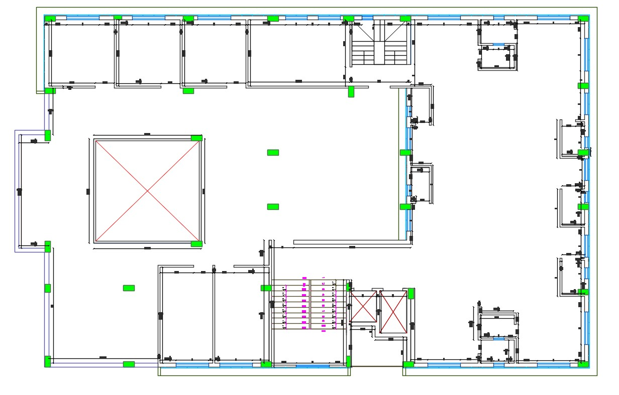 Commercial Building Floor Free AutoCAD File