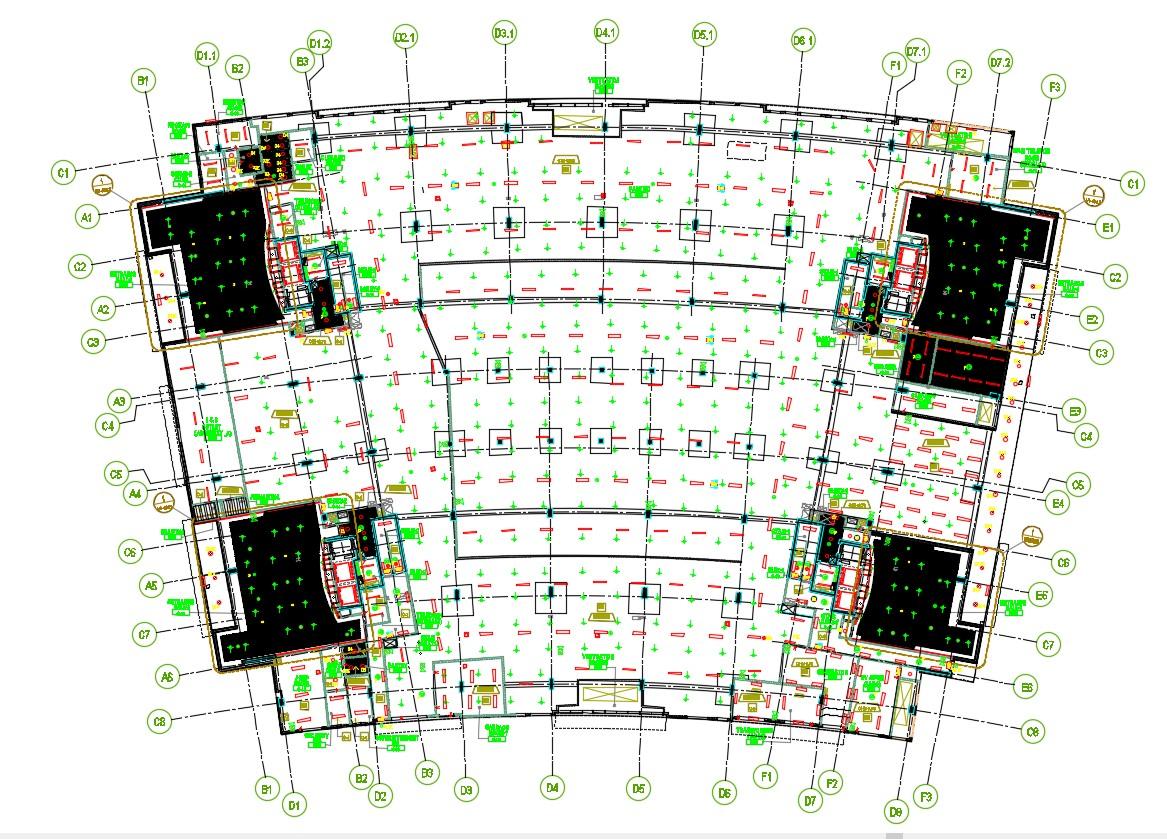 Commercial Building Foundation Plan AutoCAD File
