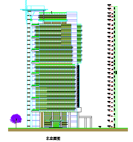 Commercial High rise Glass Elevation design