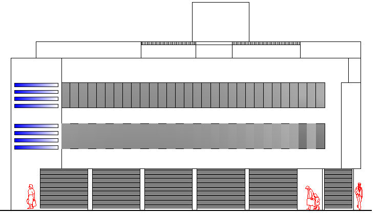 Commercial Two Star Hotel Design and Elevation Details dwg file