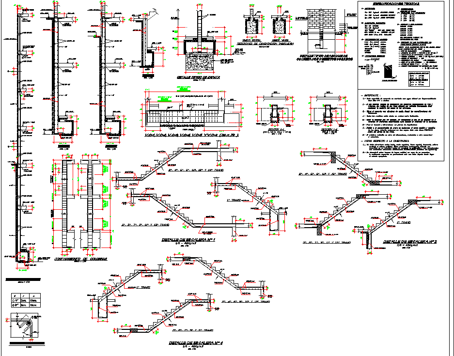 Commercial building structural design autocad file