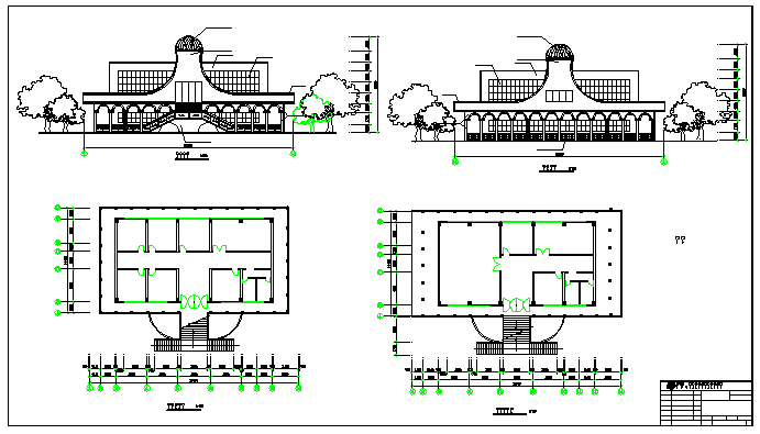 Commercial complex design drawing