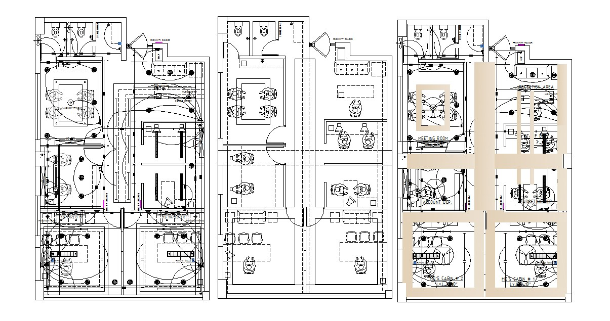 Office Design Plan In DWG File
