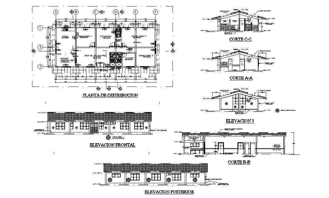 Clinic Plan In DWG File