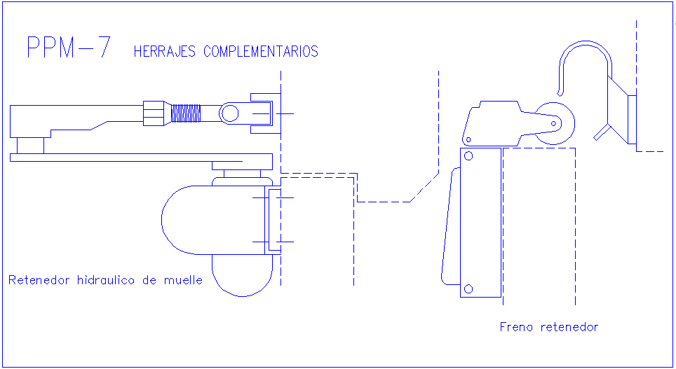 Complementary fitting part design view dwg file
