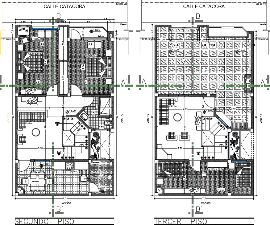 Complete architectural layout details