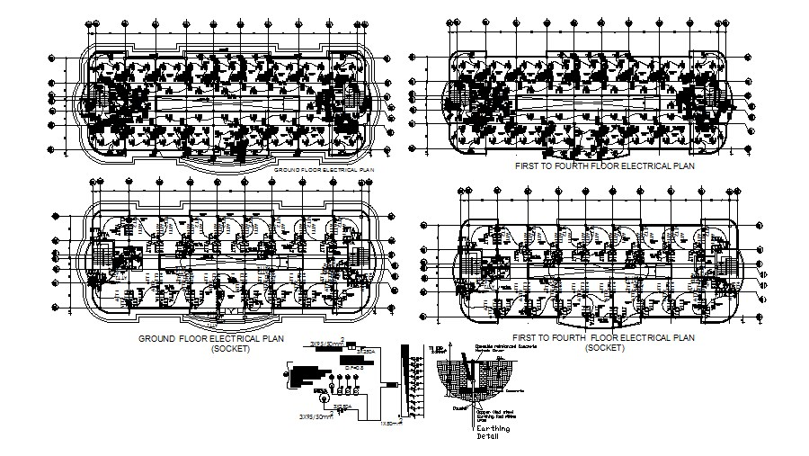 Electrical Layout Plan In DWG File