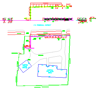 Compound wall design drawing
