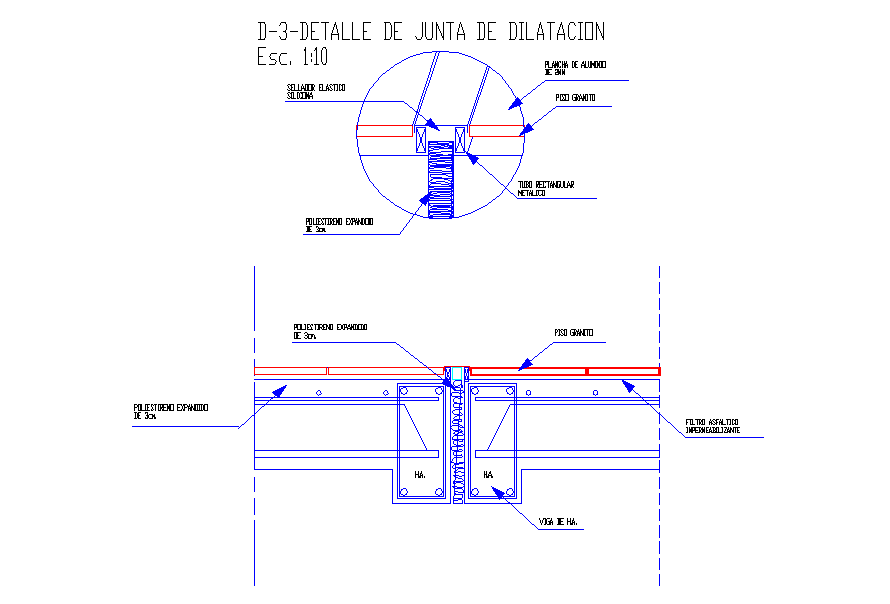 Concrete Slab & Beam Detail in DWG File
