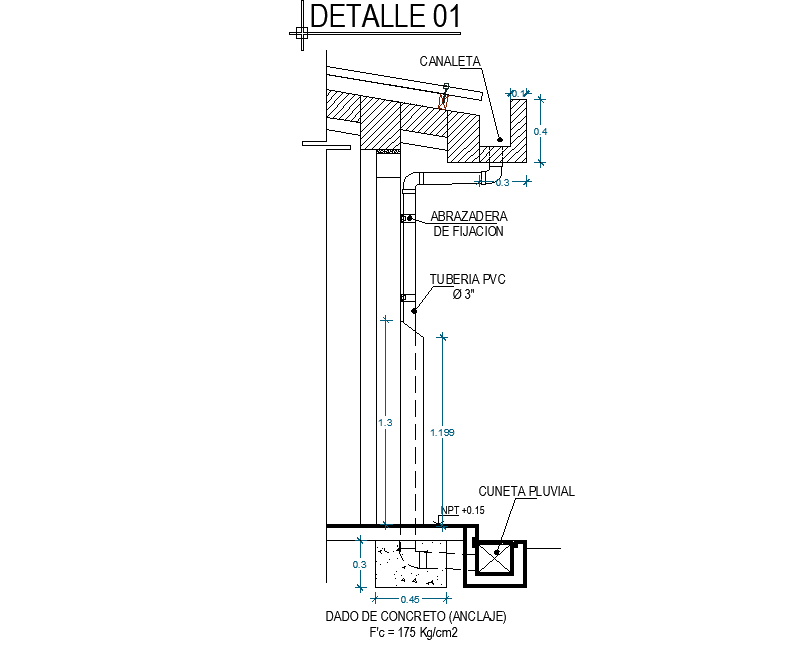 Concrete anchor section layout file