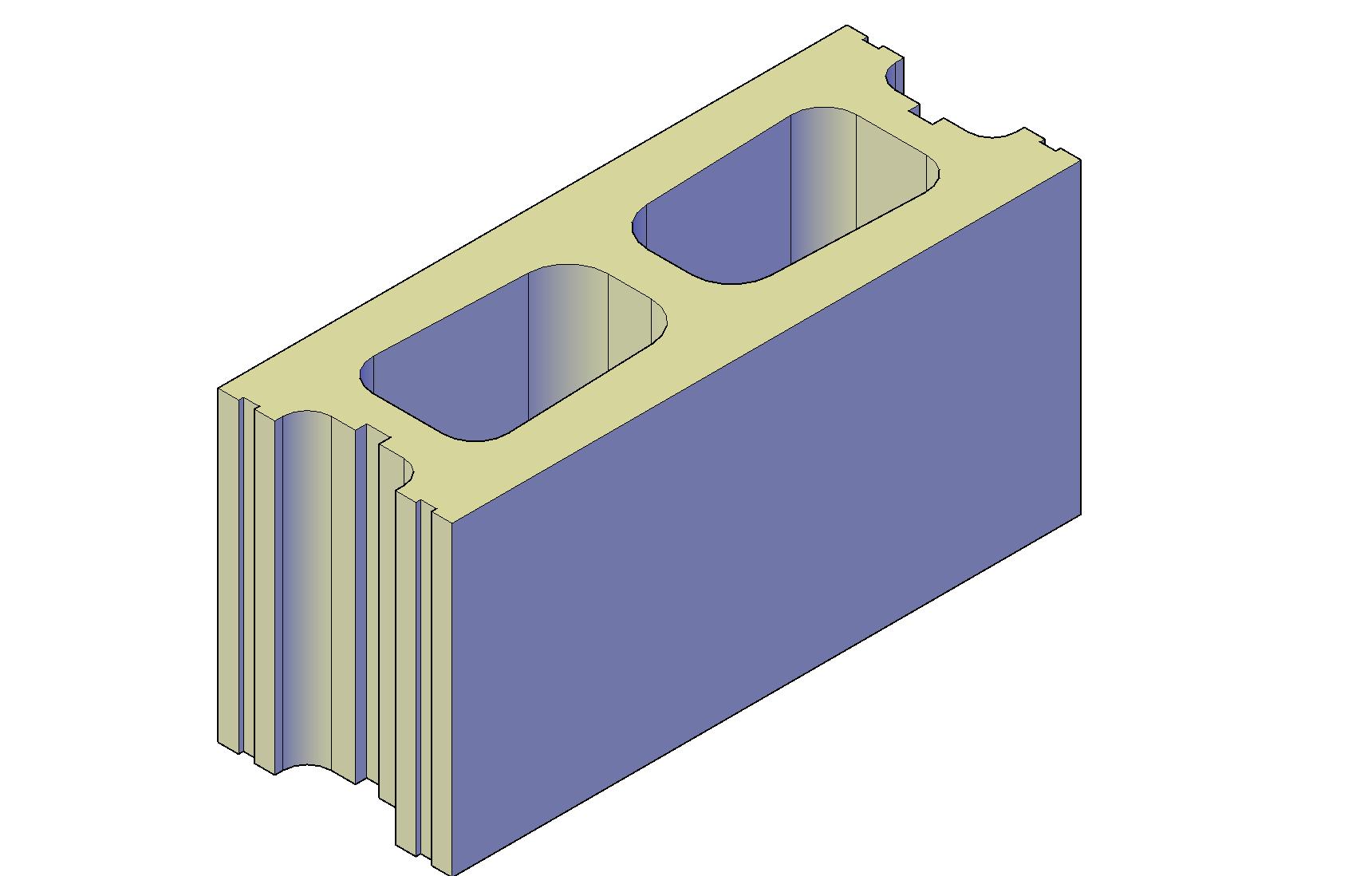 Concrete block plan detail dwg file.