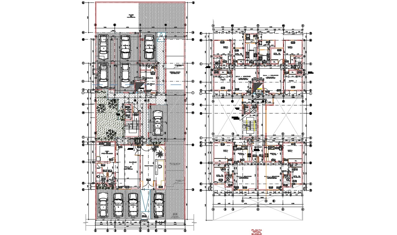 Condominium Design Working Plan AutoCAD Drawing