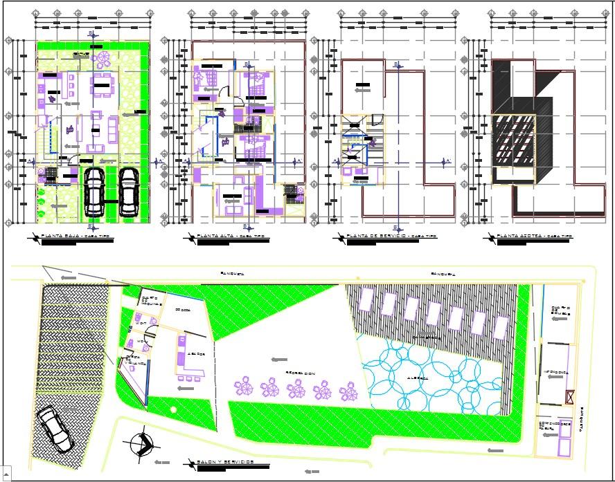 Condominium horizontal plan  dwg.
