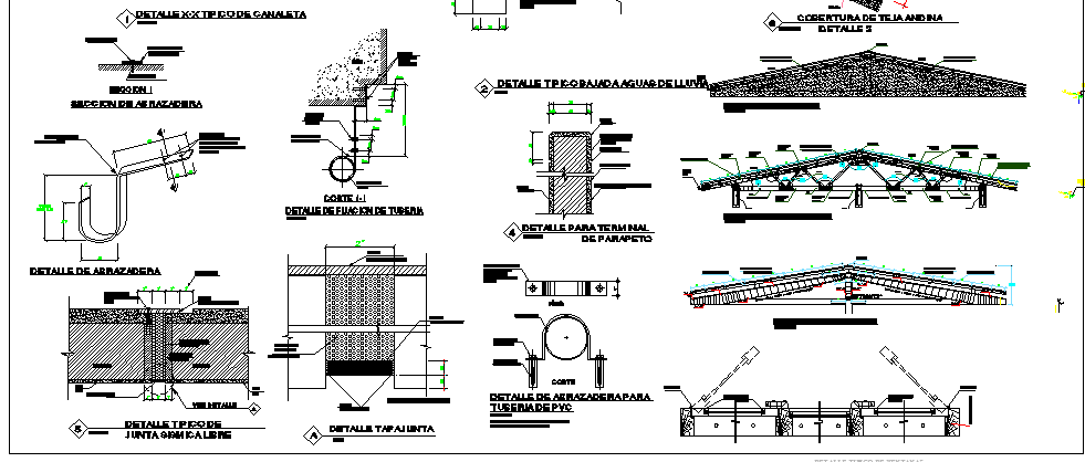 Construction Details of Draft Local Community Office Architecture Layout dwg file