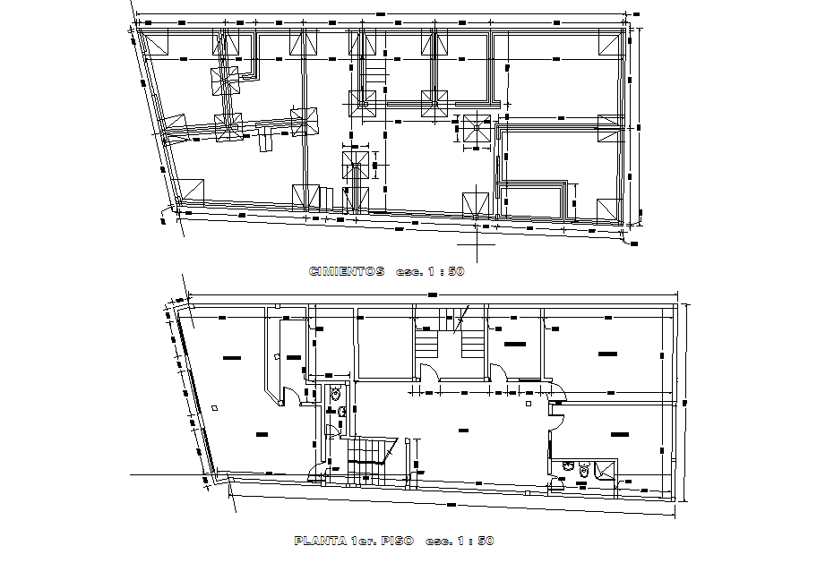 Construction detail layout plan dwg file