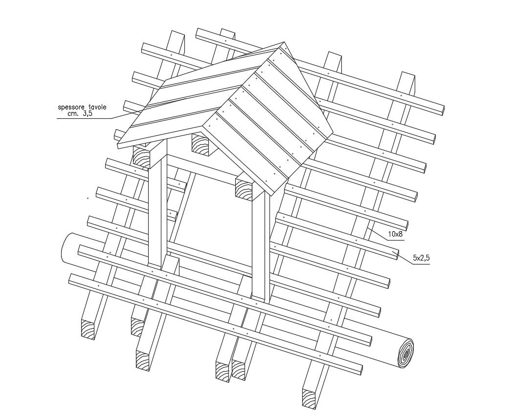 Construction detail of deck AutoCAD