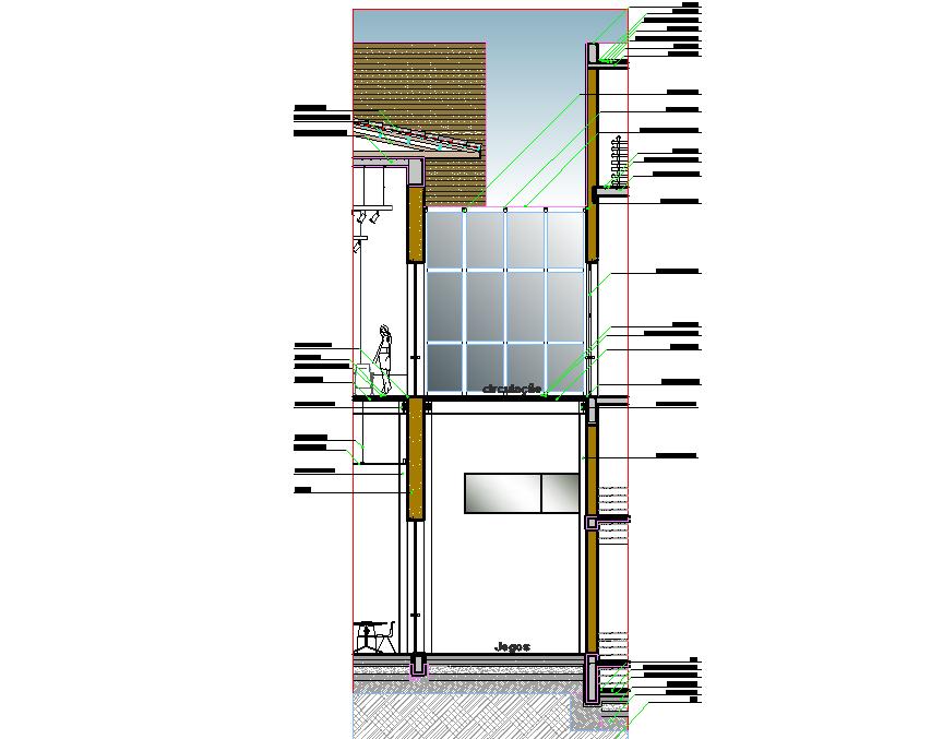 Constructive details plan dwg file
