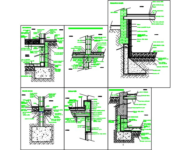 Constructive sections of concrete  blocks