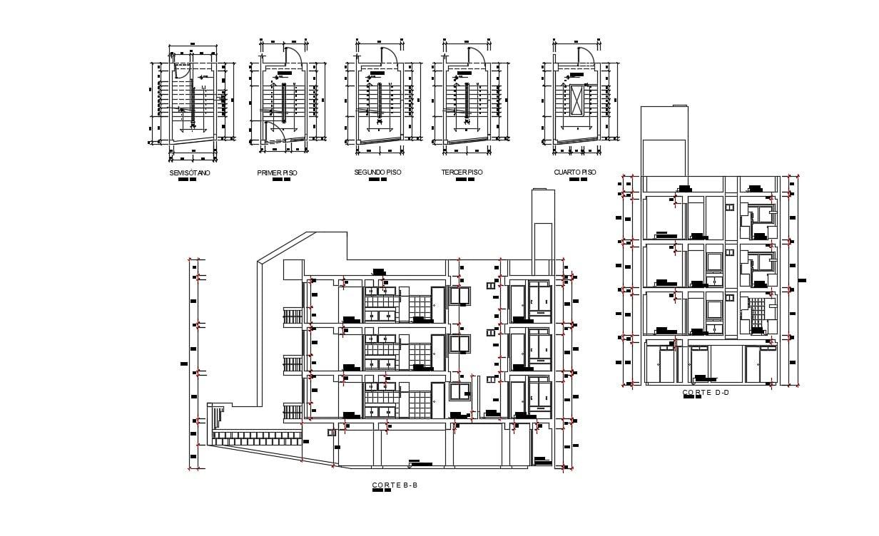 Contemporary Home Design In DWG File