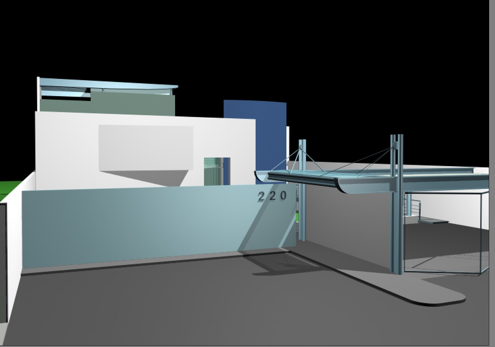 Contemporary house plan detail dwg file.