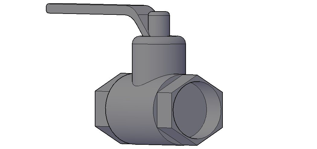 Control Valve 3D Model In DWG File