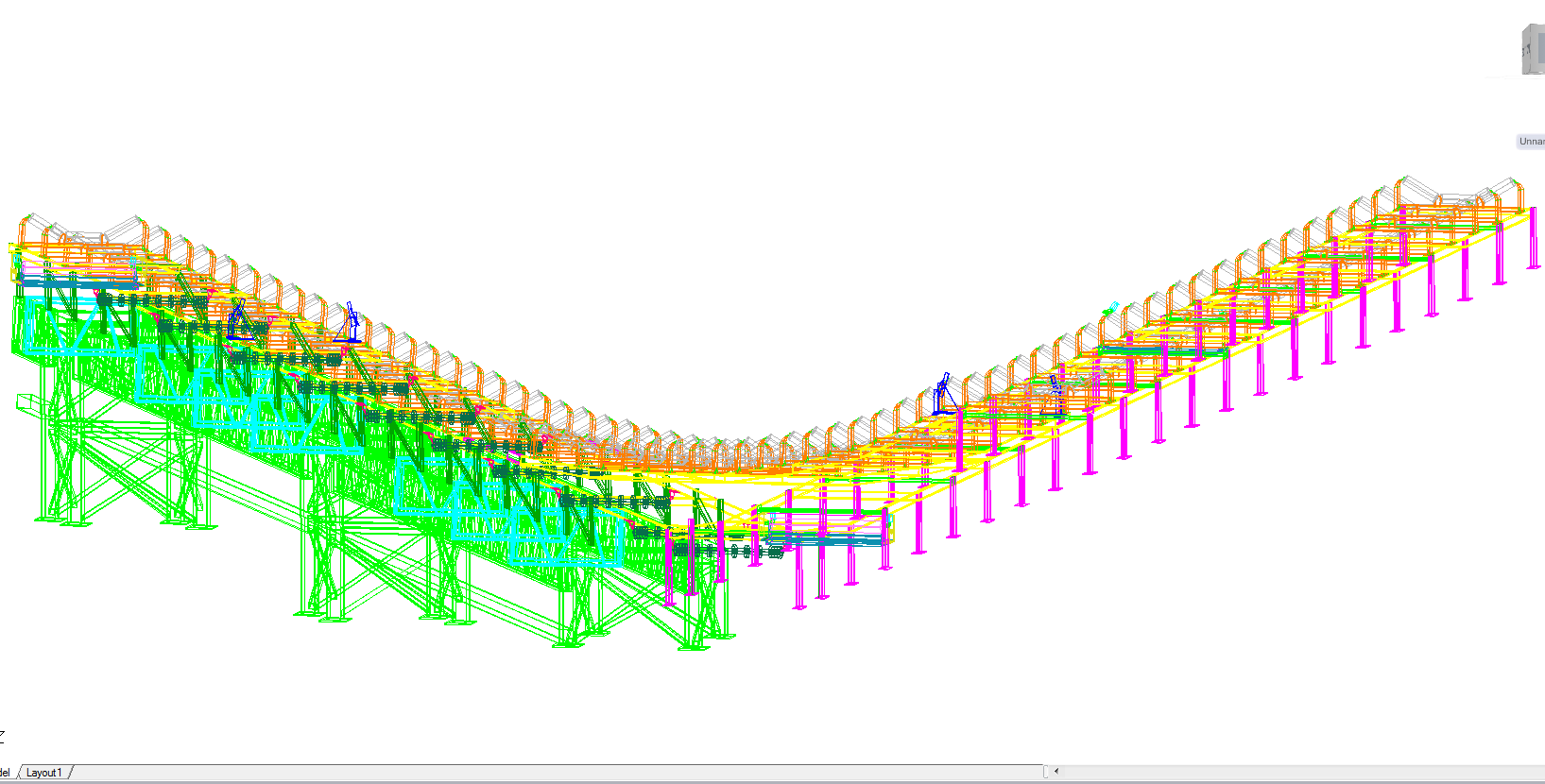Conveyor belt 3d detail and design