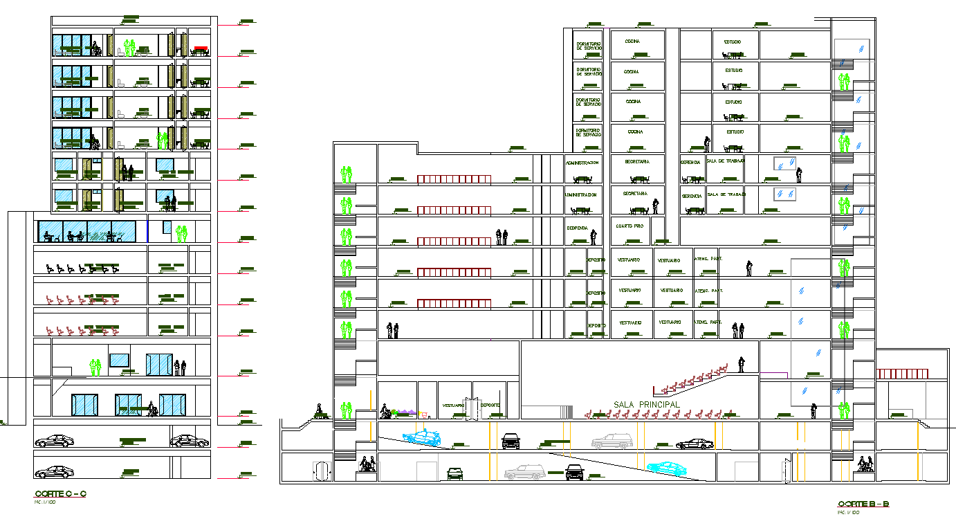 Corporate Building section plan